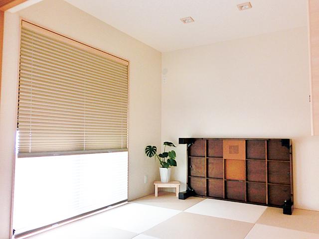 和室もシンプルに仕上げリビングからのつながりも自然でいろいろな場面で活躍できる和室になりました。